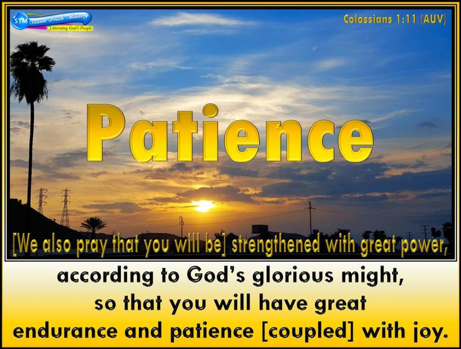 picture for patience from god