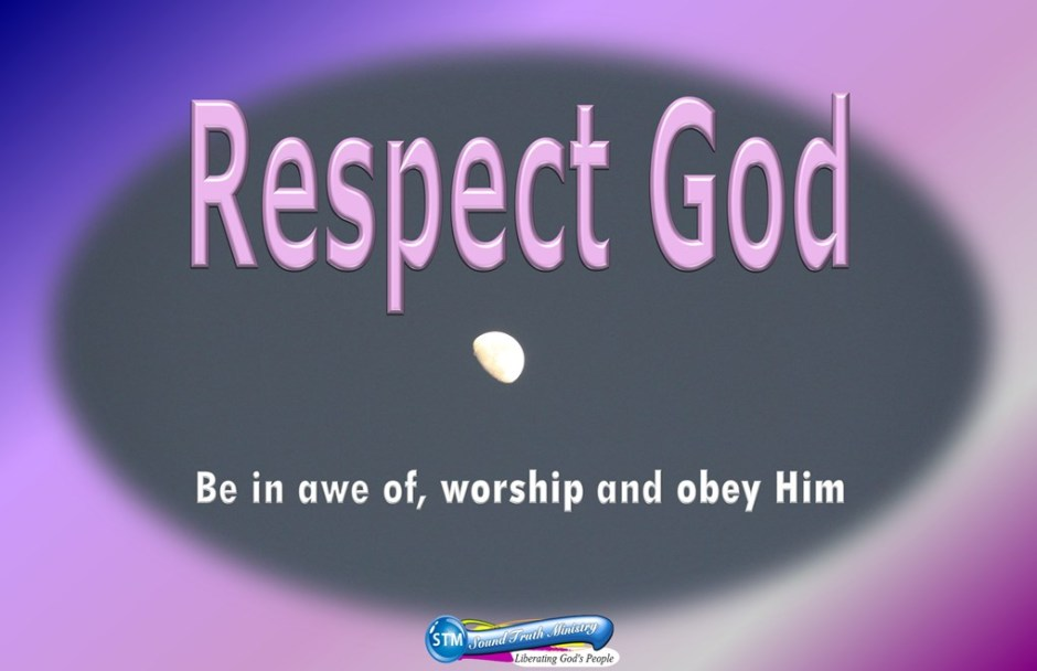 picture of moon for the respect god bible study